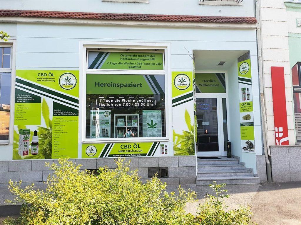 Hanftasia Shop von aussen