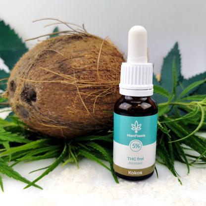 CBD Hanf-Tropfen ohne THC 5% Kokosgeschmack laborgeprüft