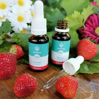 CBD Hanf-Tropfen ohne THC 20% Erdbeergeschmack laborgeprüft